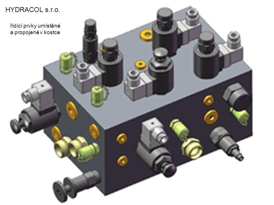 HYDRACOL s.r.o. řídící prvky umístěné a propojené v kostce