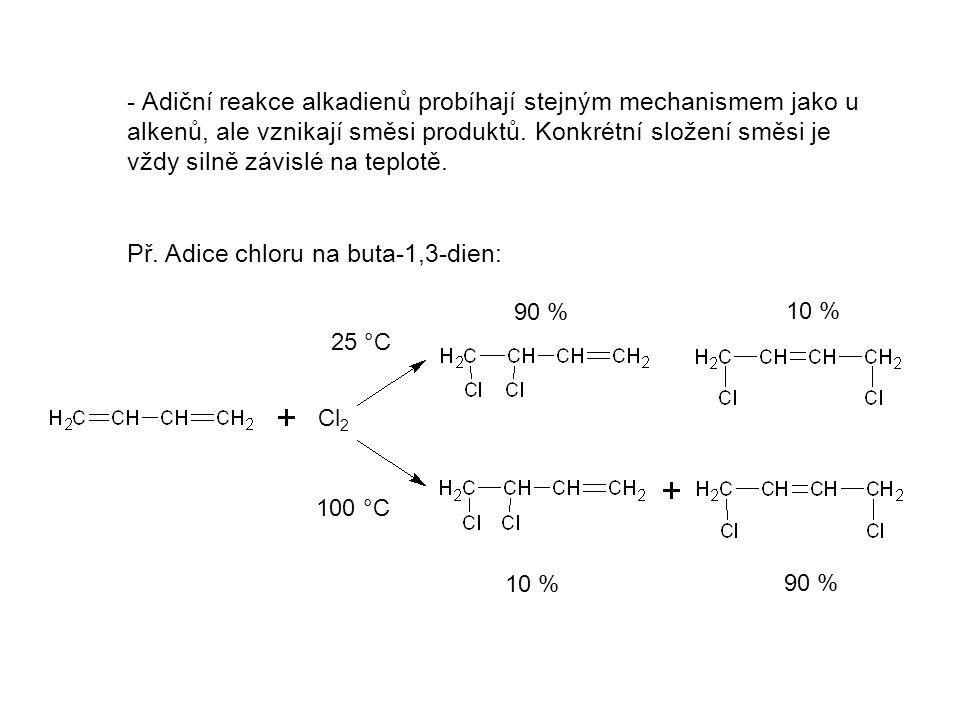 Významní zástupci Buta-1,3-dien Izopren (2-methylbuta-1,3-dien) Je to plyn s teplotou varu -4 °C.