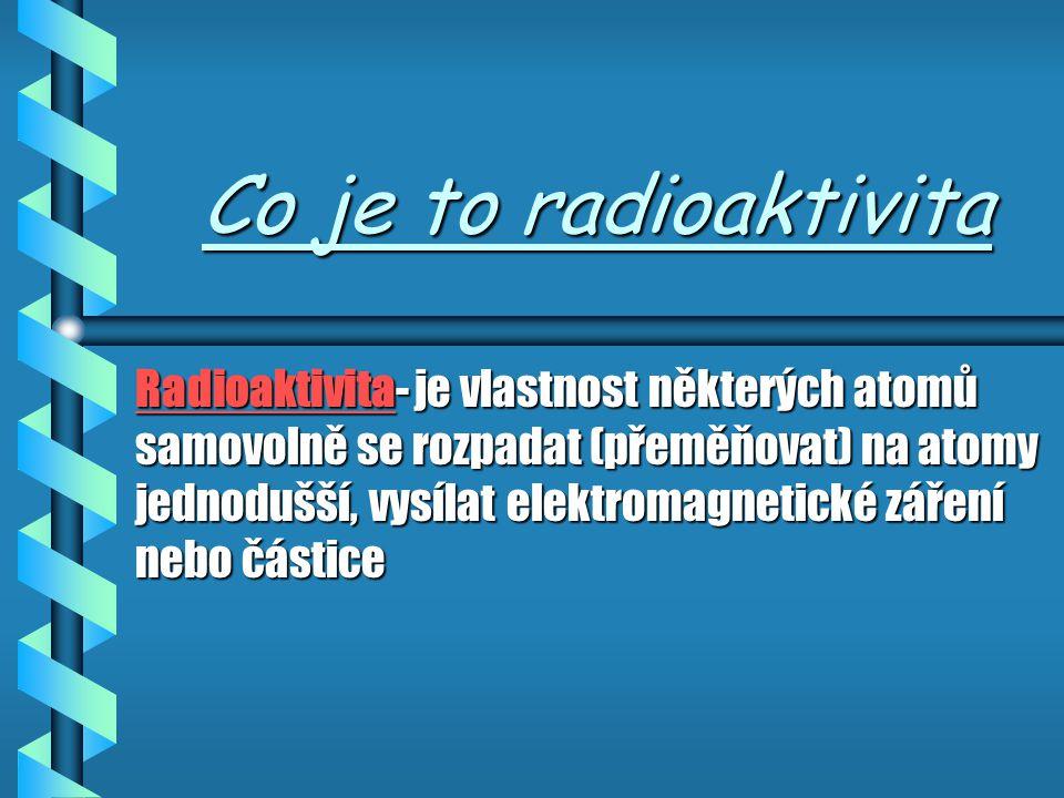 Historie radioaktivity Historie radioaktivity Dalším příspěvkem k poznání tohoto prvního čistě jaderného jevu byly práce manželů M.Curie Sklodovské a