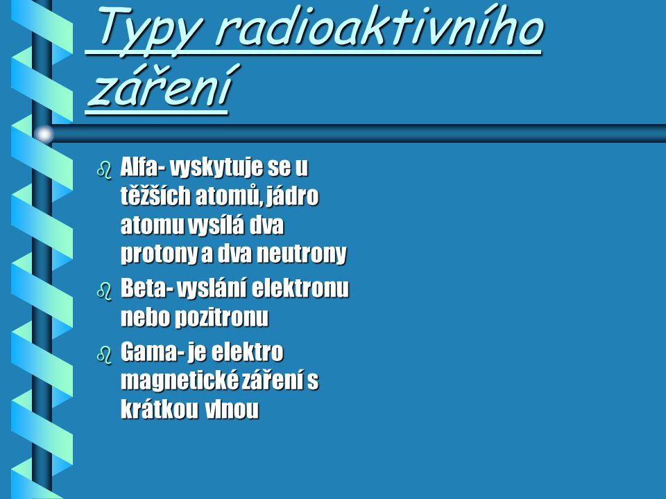 Jak poznáme radioaktivitu Našimi lidskými smysly nepoznáme, je-li nějaká látka radioaktivní či ne; radioaktivitu zachytí pouze speciální měřící přístr