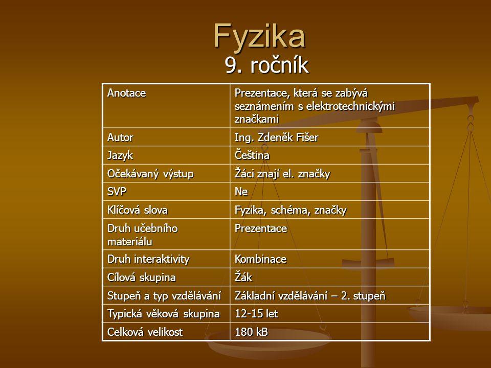 Fyzika 9.