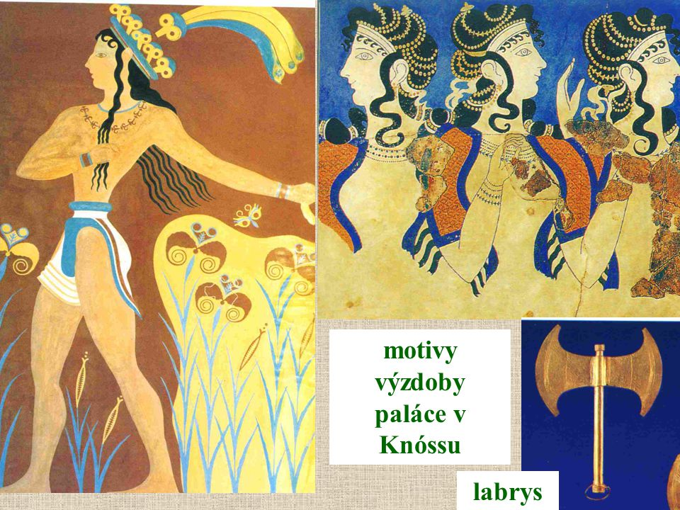 motivy výzdoby paláce v Knóssu labrys