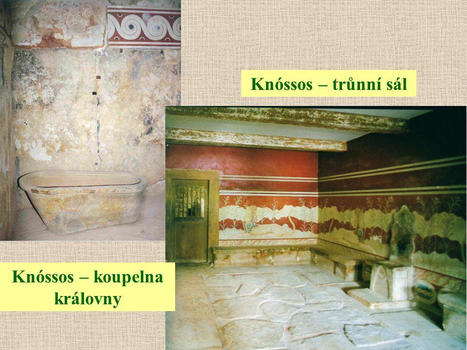 Knóssos – trůnní sál Knóssos – koupelna královny
