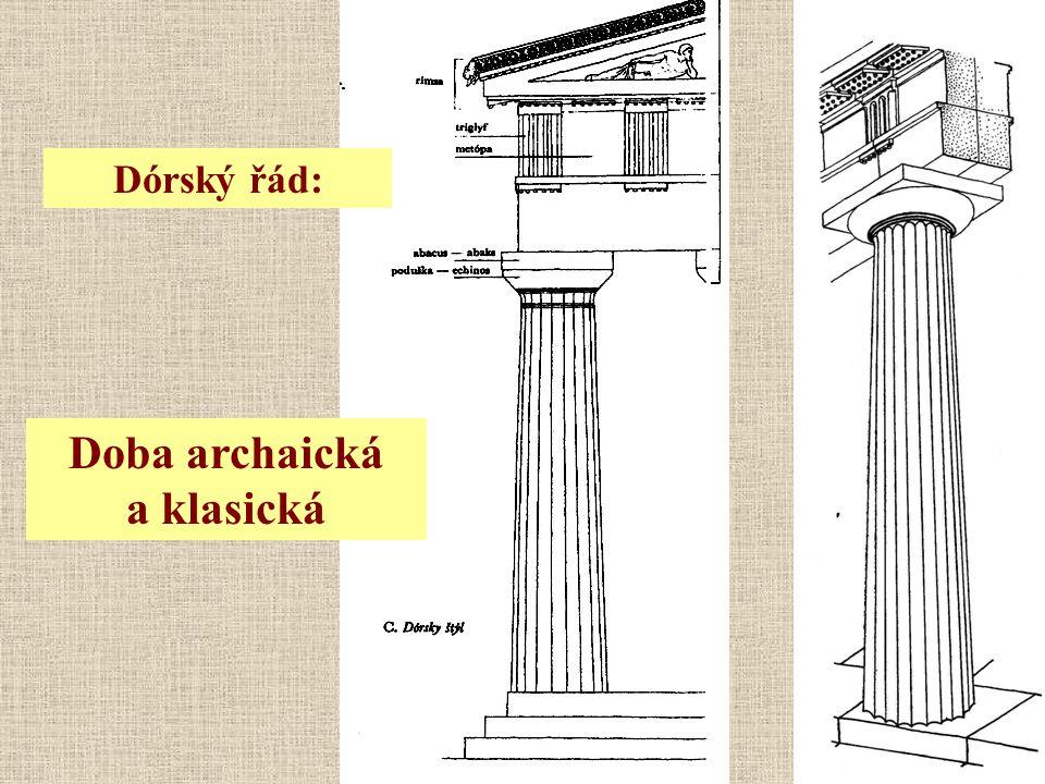 Dórský řád: Doba archaická a klasická