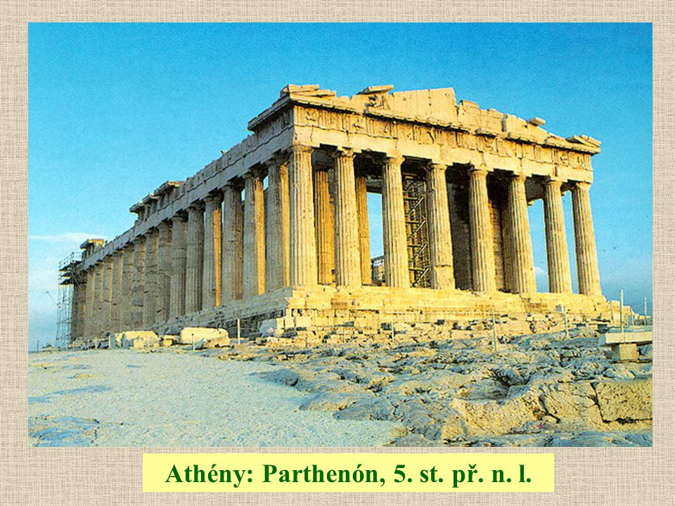 Athény: Parthenón, 5. st. př. n. l.