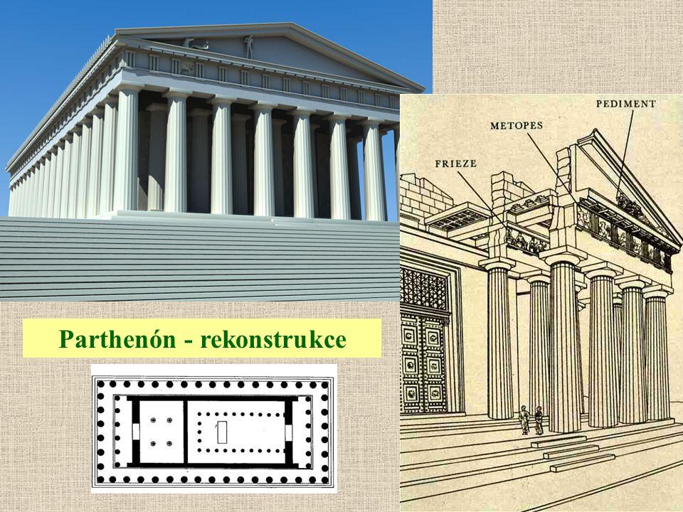 Parthenón - rekonstrukce