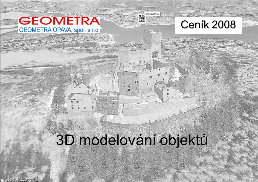 3D modelování objektů Ceník 2008