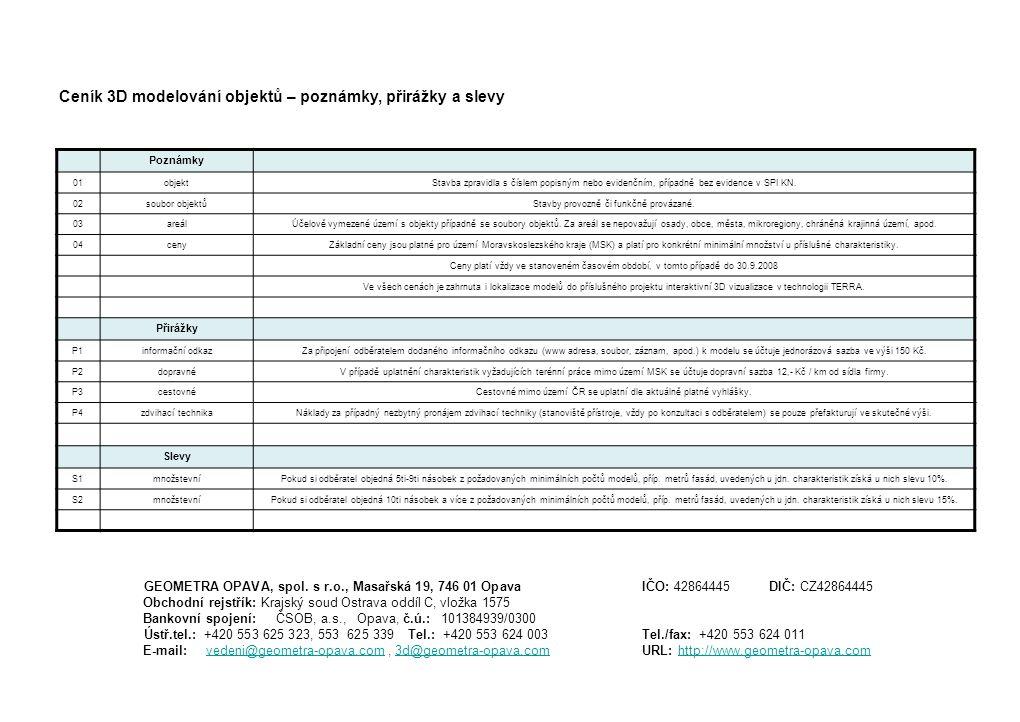 Poznámky 01objektStavba zpravidla s číslem popisným nebo evidenčním, případně bez evidence v SPI KN.