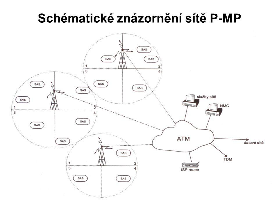 Schématické znázornění sítě P-MP