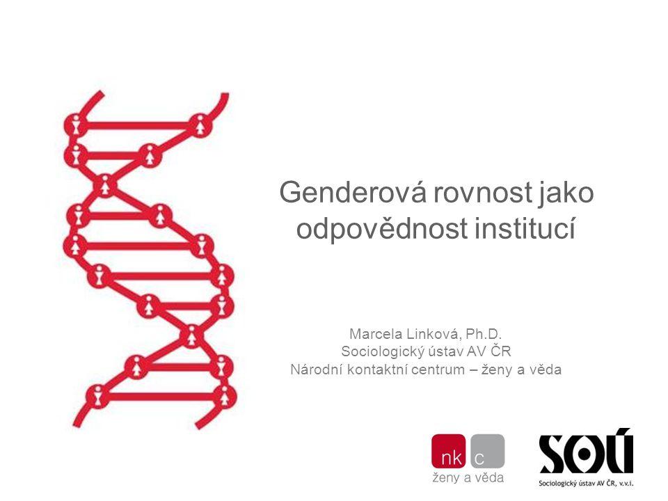 Genderová rovnost jako odpovědnost institucí Marcela Linková, Ph.D.