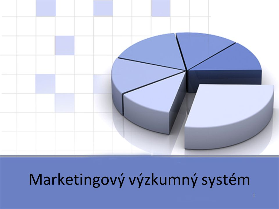 1 Marketingový výzkumný systém
