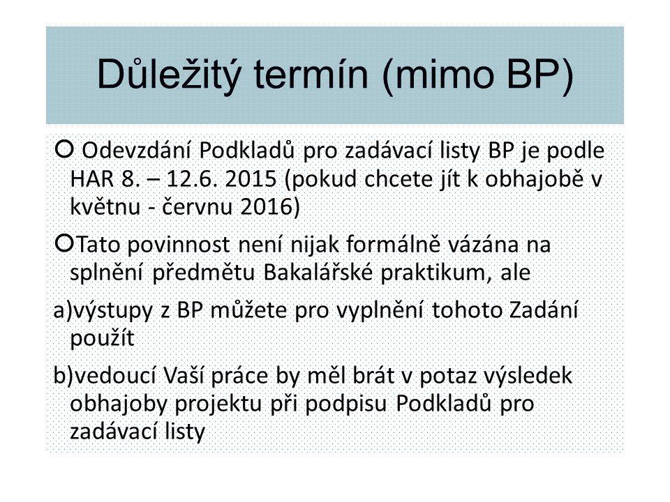 Podmínky na zápočet Bakalářského praktika  1.Účast na cvičení min.