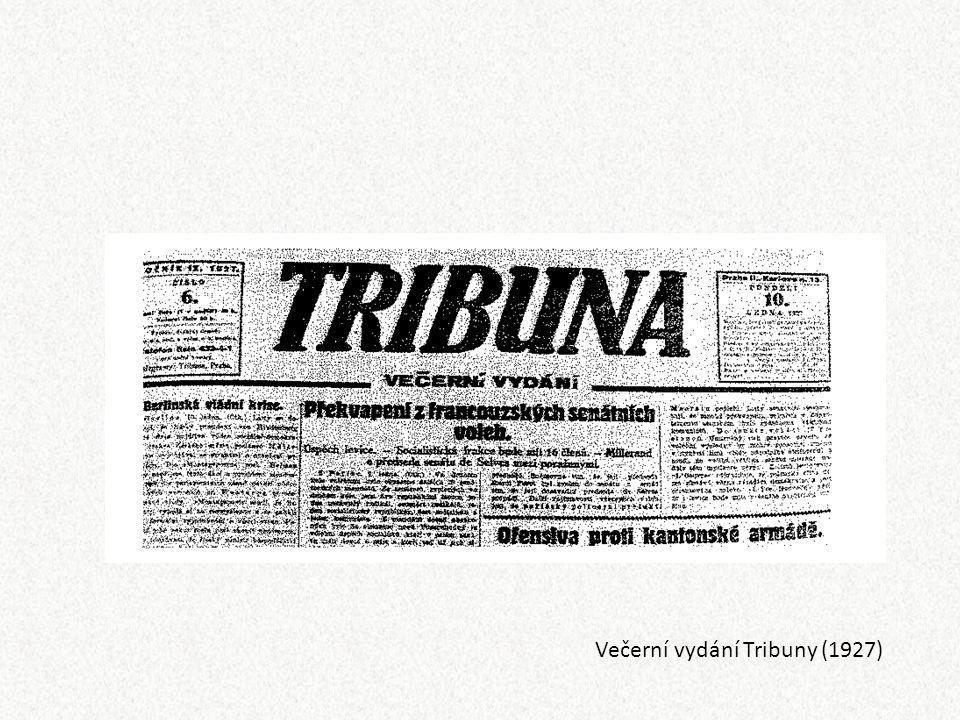 Večerní vydání Tribuny (1927)