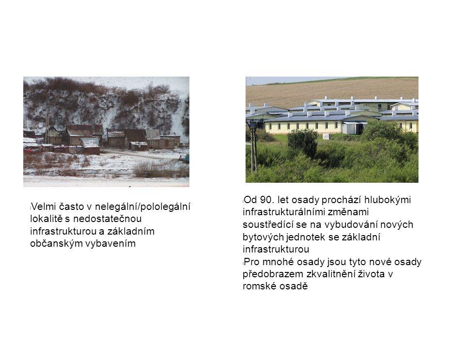 l Od 90. let osady prochází hlubokými infrastrukturálními změnami soustředící se na vybudování nových bytových jednotek se základní infrastrukturou l