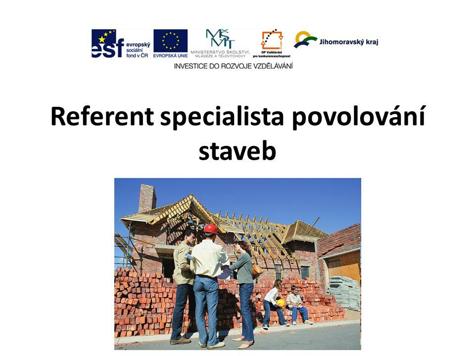 Referent specialista povolování staveb