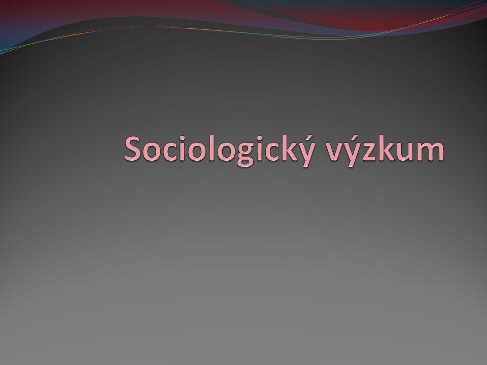 Sociologický výzkum 1.