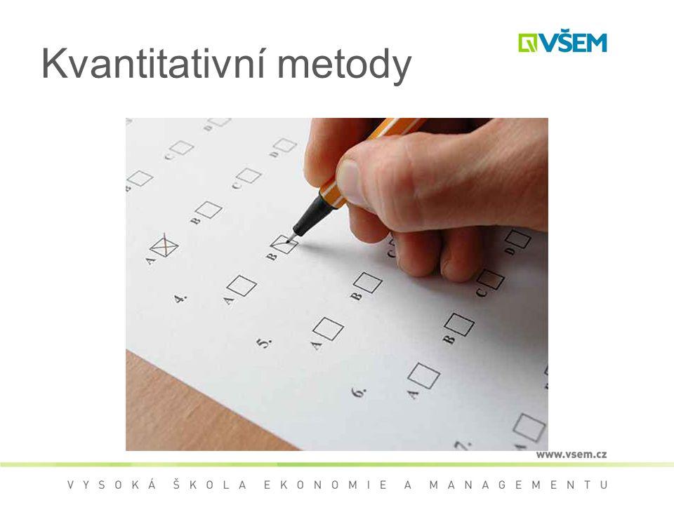 Kvantitativní metody