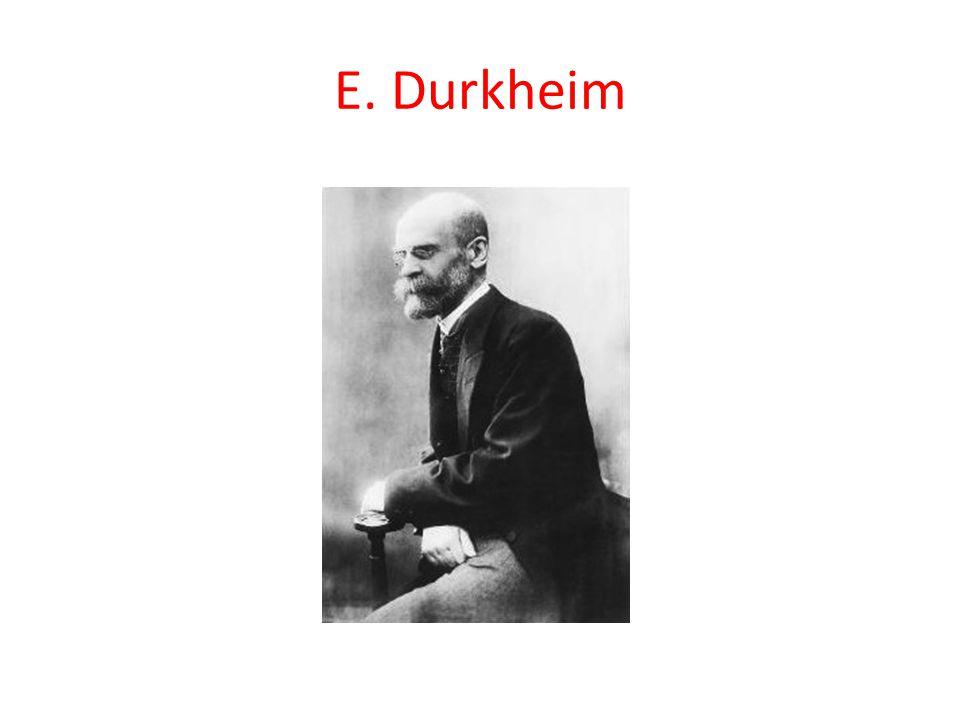 E. Durkheim