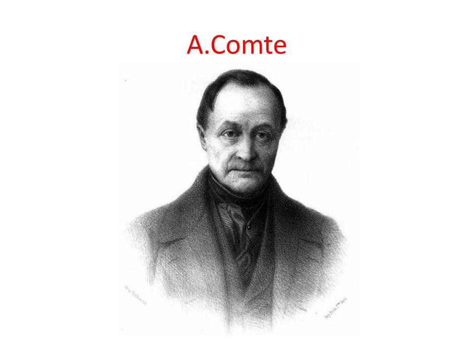 dnes mu nebývá věnována velká pozornost i když byl zakladatelem sociologie snažil se reformu lidského myšlení a přišel s požadavkem přísně vědeckého zkoumání sociální skutečnosti kladl důraz na řád a stabilitu hodnot