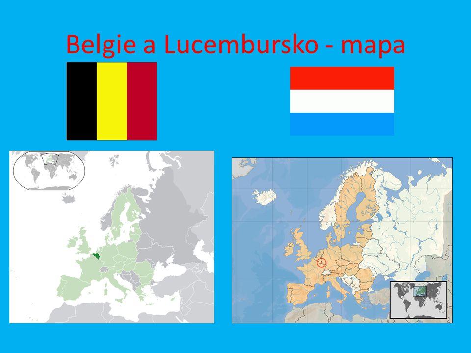 Belgie a Lucembursko - mapa