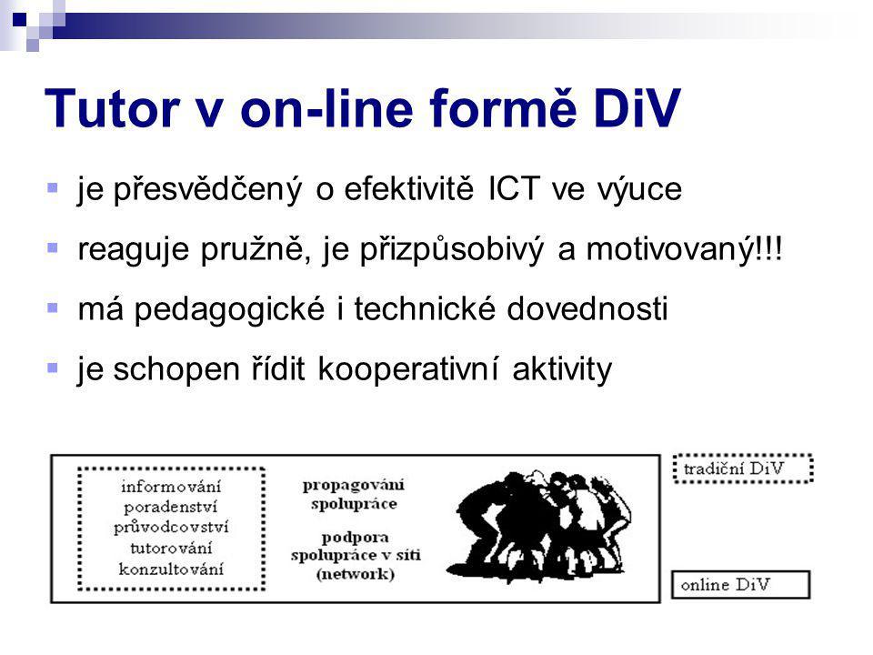 7 principů on-line výuky 1.Podporování kontaktů mezi studujícími a tutory.