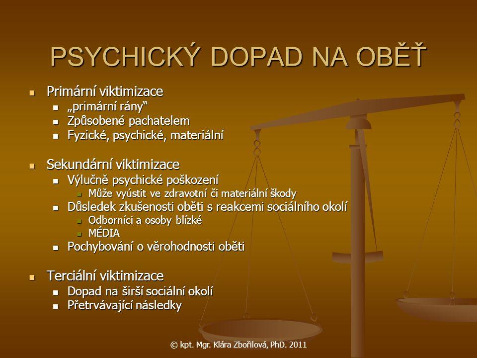 © kpt.Mgr. Klára Zbořilová, PhD.