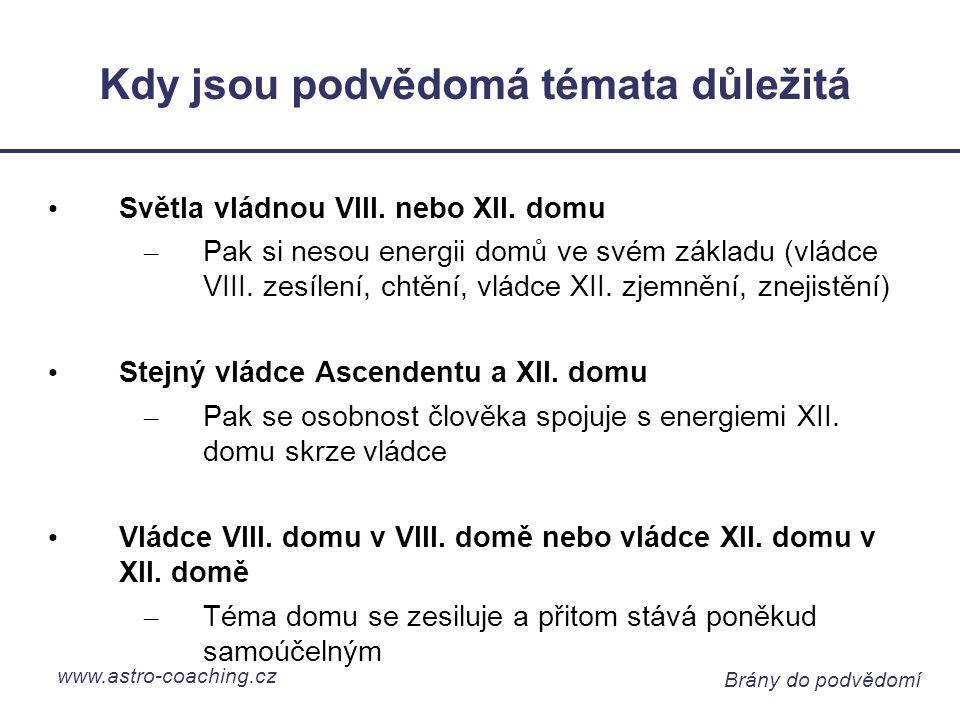 www.astro-coaching.cz Brány do podvědomí Kdy jsou podvědomá témata důležitá Světla vládnou VIII.