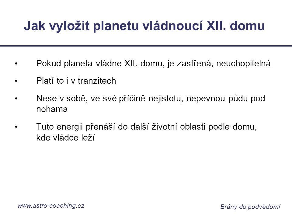 www.astro-coaching.cz Brány do podvědomí Jak vyložit planetu vládnoucí XII.