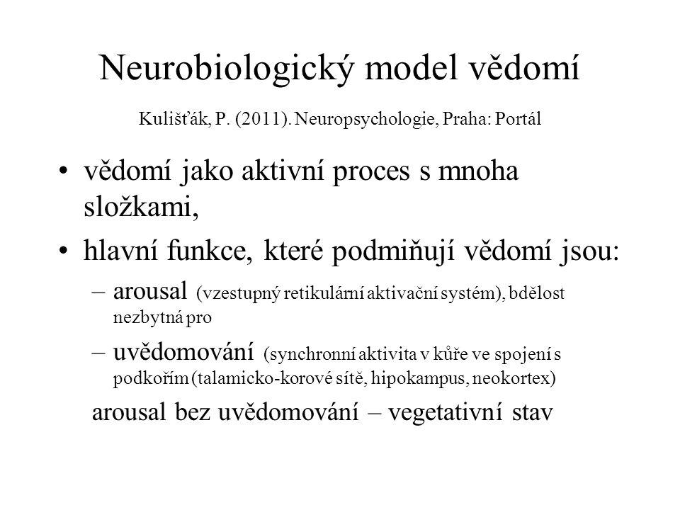 Neurobiologický model vědomí Kulišťák, P.(2011).
