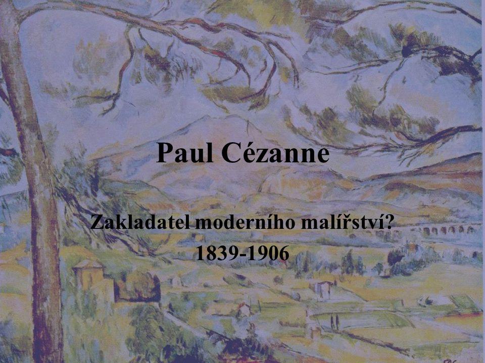 Cézannova tvorba Zpočátku se hlásí k impresionismu a jeho skupině V závěru své tvorby jej však odmítá a nachází novou cestu Jedinečný a svérázný rukopis Rozličné náměty Portréty Lidské postavy, scény koupajících se Krajiny (hora Sainte Victoire, Provence – L'Estague) Zátiší Moderní Olympie
