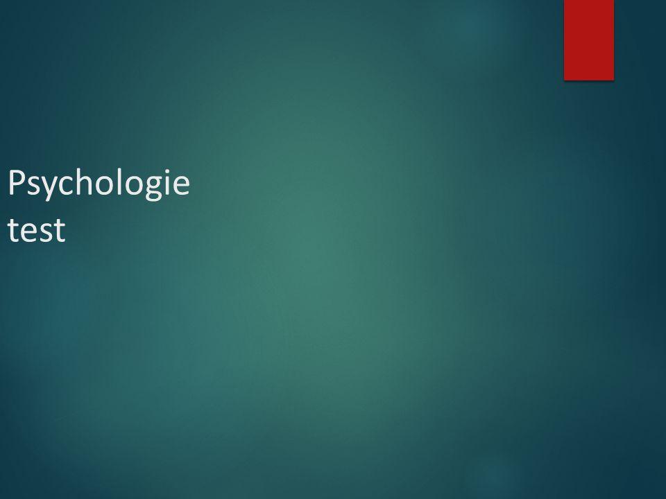 Psychologie test