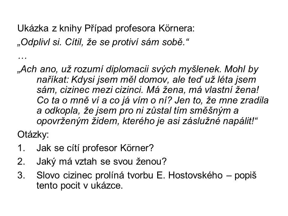 """Ukázka z knihy Případ profesora Körnera: """"Odplivl si."""