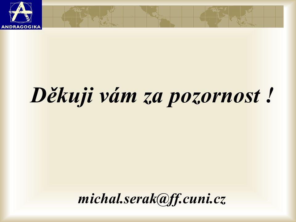 Děkuji vám za pozornost ! michal.serak@ff.cuni.cz