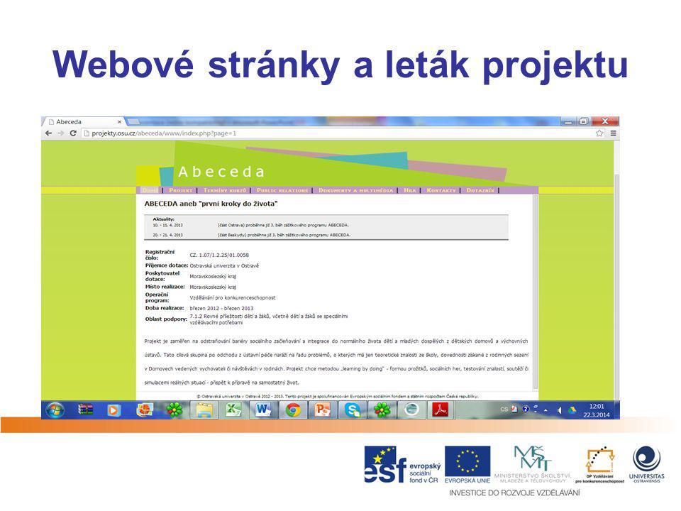 Webové stránky a leták projektu