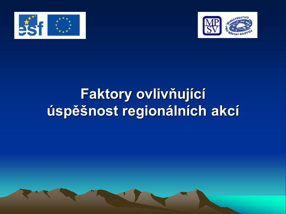 Faktory ovlivňující úspěšnost regionálních akcí