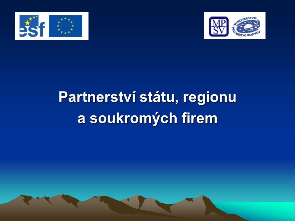 Partnerství státu, regionu a soukromých firem
