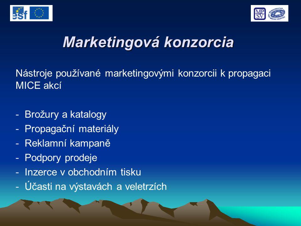 Marketingová konzorcia Nástroje používané marketingovými konzorcii k propagaci MICE akcí - Brožury a katalogy - Propagační materiály - Reklamní kampan
