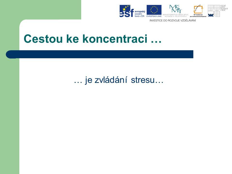 Cestou ke koncentraci … … je zvládání stresu…
