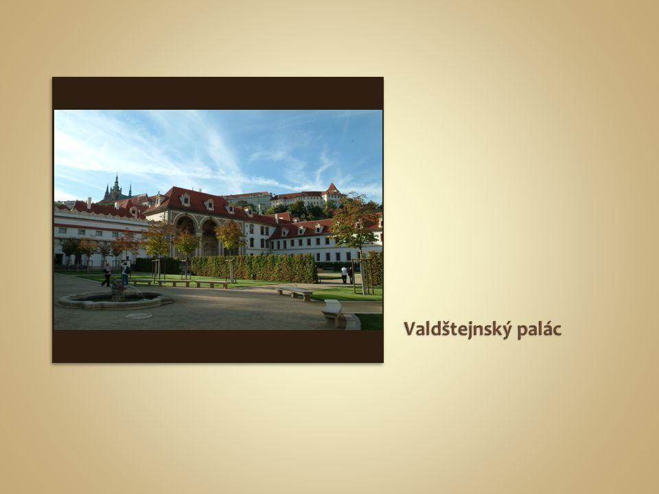 půdorys paláce a přilehlých zahrad