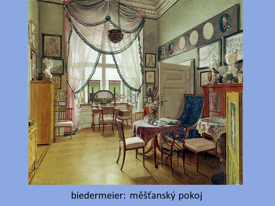 biedermeier: měšťanský pokoj