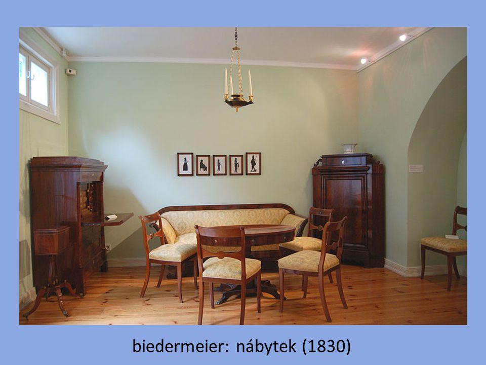 biedermeier: nábytek (1830)