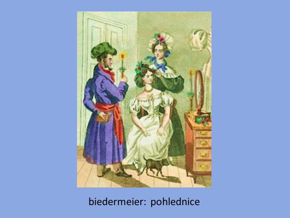 biedermeier: pohlednice