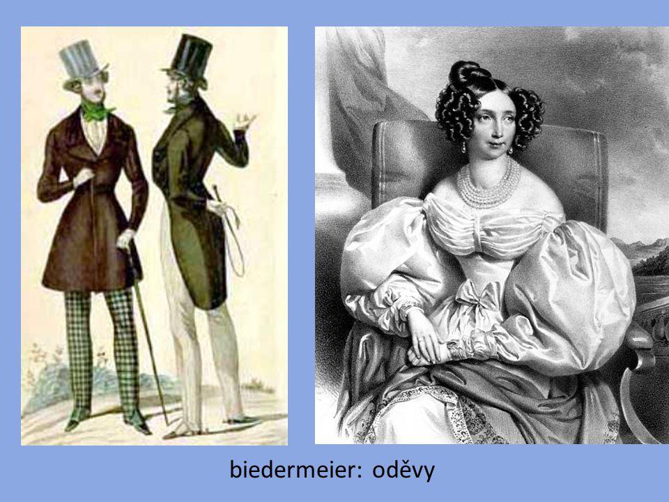 biedermeier: oděvy