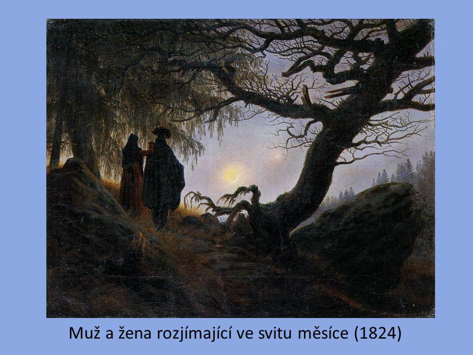 Muž a žena rozjímající ve svitu měsíce (1824)