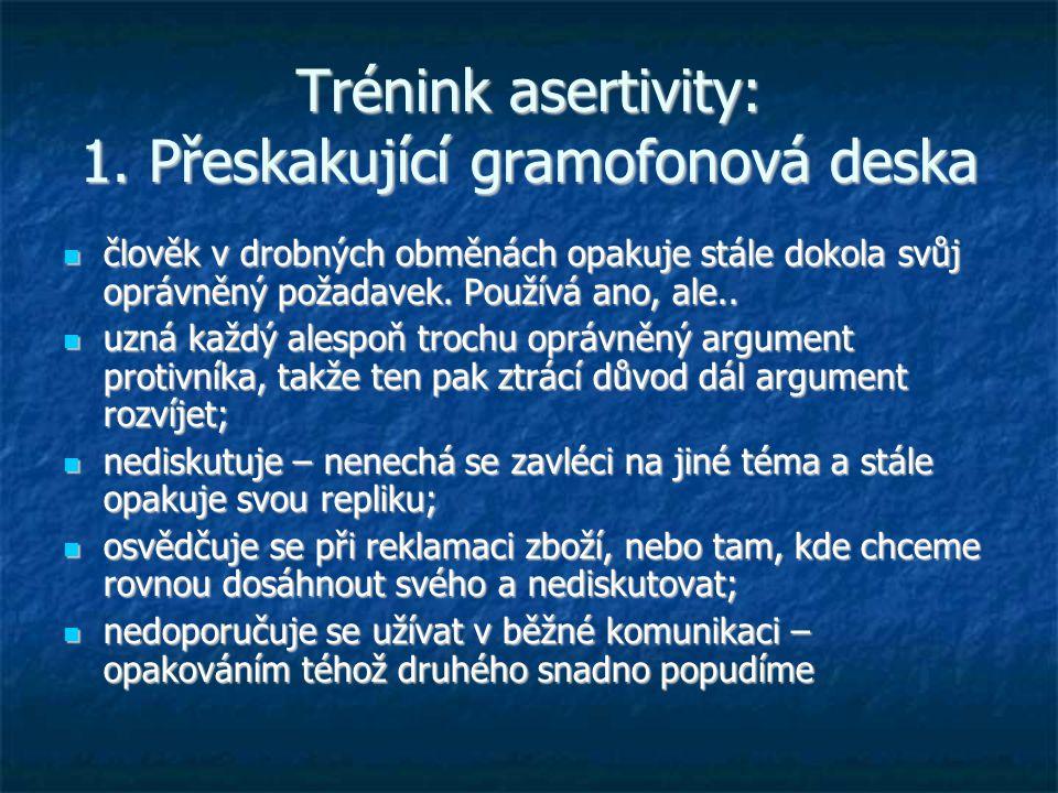 Trénink asertivity: 1.