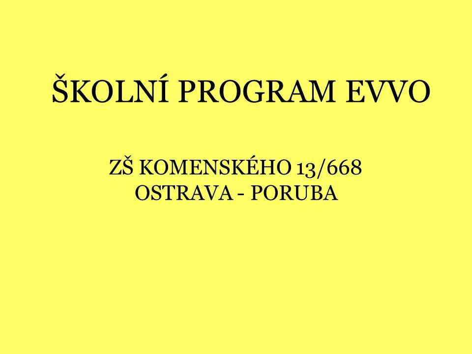 ZŠ KOMENSKÉHO 13/668 OSTRAVA - PORUBA ŠKOLNÍ PROGRAM EVVO