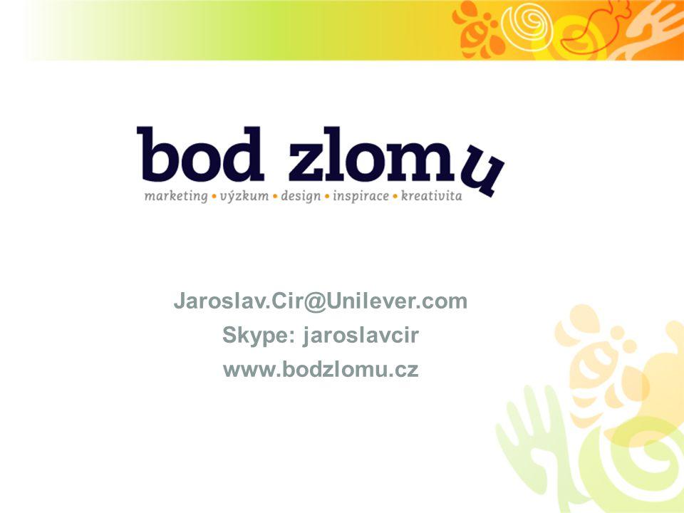 Jaroslav.Cir@Unilever.com Skype: jaroslavcir www.bodzlomu.cz