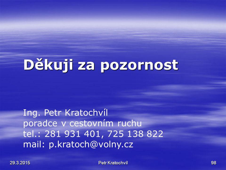 29.3.2015Ing. Petr Kratochvíl 97