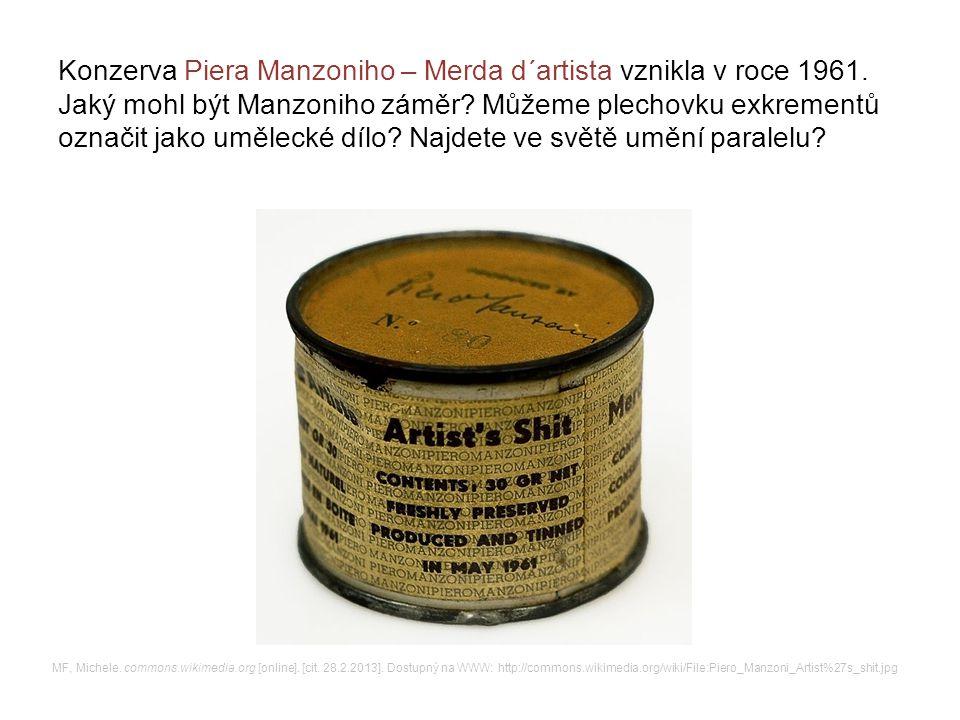 Konzerva Piera Manzoniho – Merda d´artista vznikla v roce 1961.