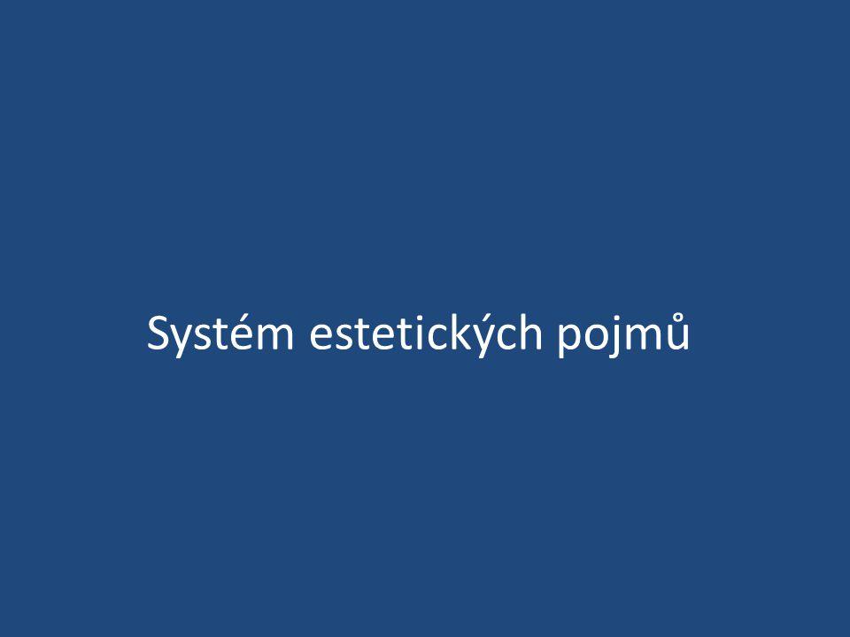 Systém estetických pojmů